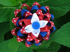 4th of July hair bows :)