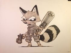 Little Rocket Raccoon to finish off the week.