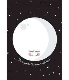 Eef Lillemor - Poster I love you to the moon and back
