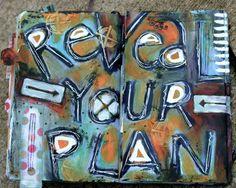 Art journal spread by Michelle Allen