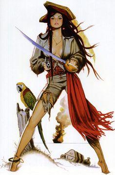 Pirate Pin Up, por Jim Silke
