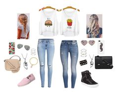 """""""Me and my friend going shopping"""" by angelesrodiguez ❤ liked on Polyvore featuring H&M, Rebecca Minkoff, TOMS, Sloane, Kenneth Cole, Bling Jewelry, Tiffany & Co., Valentino, Casetify and Rifle Paper Co"""