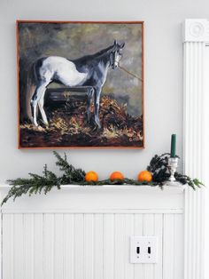 Horse in a Stable Oil Painting by GraceKeoghArt #horsepainting #equestrian