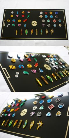 Acrylic Pokemon Gym Badges by blazerdesigns - for sale on his site…