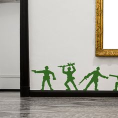 Toy Soldiers Wall Stickers - Would be so cute in a little boys room!