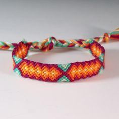 embroidery thread necklace | ... Friendship Bracelet / Red Hot Aqua Jewelry / Embroidery Thread Jewelry