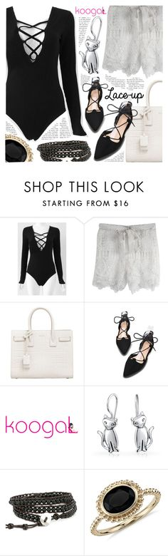 """""""Shop Koogal"""" by pastelneon ❤ liked on Polyvore featuring Yves Saint Laurent, Bling Jewelry and Blue Nile"""