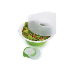 Store your salad and dressing together in this plastic Collapsible Salad Bowl from prepworks. The leak-resistant lid helps prevent messes and the whole bowl holds up to 5 cups of salad and cup of salad dressing. Clever Gadgets, Cool Kitchen Gadgets, Cool Kitchens, Salad Dressing Container, Food Canisters, Salad Kits, Cupcake Tray, Salads To Go, Tea Tray