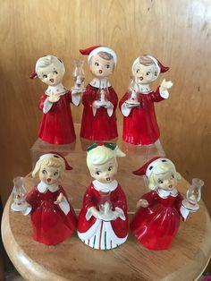 Christmas Figurines, Vintage Christmas Ornaments, Retro Christmas, Vintage Holiday, Winter Christmas, Christmas Holidays, Christmas Crafts, Christmas Decorations, Old Fashioned Christmas