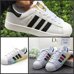 672e56224e4 Adidas Kids · Men s Women s Striped Lace Up Sport Running Sneakers  Superstar Trainers Shoes Running Sneakers