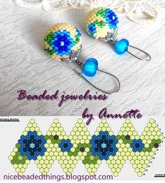 Гарненькі бісерні штучки | Beaded jewelries by Annette: Незабудки