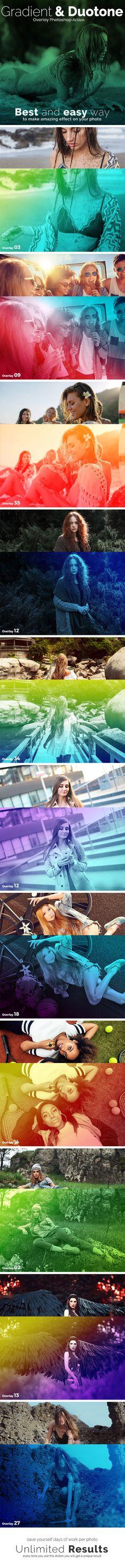 Gradient & Duotone Overlay Photoshop Action