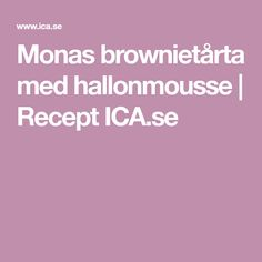 Monas brownietårta med hallonmousse | Recept ICA.se