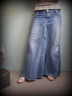 CUSTOM Basic Denim Skirt by SarahndipityStudio on Etsy