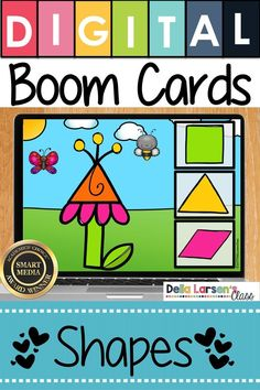 Fun idea for spring math centers. Boom Cards make learning shapes feel like a game. An easy idea for your math centers. Fun idea for making learning shapes feel like a game. Boom Cards are self-checking and can be used on iPads and Chromebooks. Kindergarten Math Activities, Preschool Lessons, Kindergarten Classroom, Maths, Google Classroom, Interactive Learning, Learning Resources, Learning Shapes, Math Centers