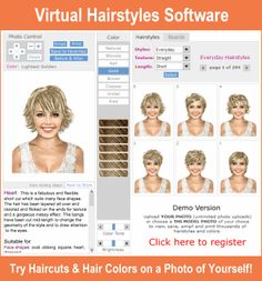 Virtual Hairstyle Virtual Haircut  New Hairstyle Ideas  Pinterest  Virtual Haircut