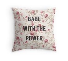 what babe? Throw Pillow
