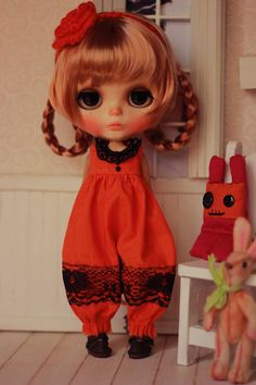 Pumpkin - Overall for Blythe Doll