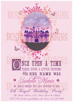Princess Castle Birthday Invitation!  Very cool!