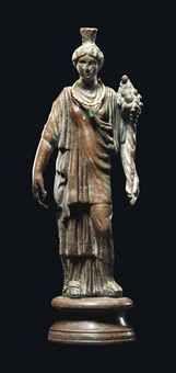 A ROMAN BRONZE FORTUNA     CIRCA 2ND CENTURY A.D