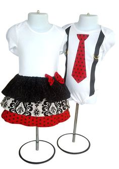 Boy Girl Twin Sibling Christmas Matching Outfits by TheTwinShop, $49.00