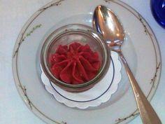 "Raspberry ice cream with EVOO Grand Cru ""Costa dei Trabocchi"""