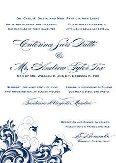 Blusa bordada wedding invitation ecru spanish wedding invites at bilingual letterpress wedding invitation design rana 1 stopboris Images