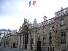 Palacio del Elíseo, sede presidencial de Francia.
