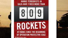"""IDF tweet: Israel's """"Rocket Counter"""" as it appears on Twitter"""