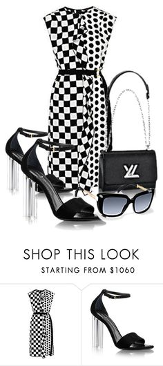 """""""Black n white Vuitton"""" by ms-hinds ❤ liked on Polyvore"""
