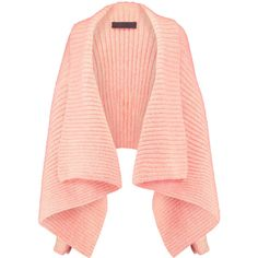 Haider Ackermann Mohair-blend cardigan (3,410 CNY) ❤ liked on Polyvore featuring tops, cardigans, blush, loose tops, loose fitting tops, red top, open front cardigan and loose cardigan