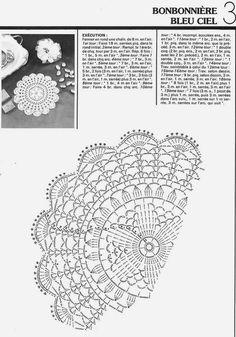 "Photo from album ""Crochet Monthly on Yandex. Crochet Doily Diagram, Crochet Doily Patterns, Crochet Chart, Thread Crochet, Filet Crochet, Knit Crochet, Crochet Dollies, Crochet Flowers, Magazine Crochet"