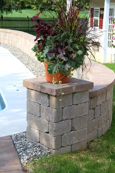 Stonegate Wall in Mesquite Free Standing Wall, Stepping Stones, Outdoor Living, Living Spaces, Sidewalk, Environment, Entertaining, Plants, Stair Risers