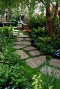 Flagstone path w/gro Flowers Garden Love by cornelia
