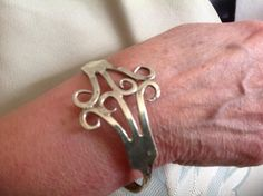 Here's one I made earlier Cuff Bracelets, Twitter, Silver, Jewelry, Jewlery, Jewerly, Schmuck, Jewels, Jewelery