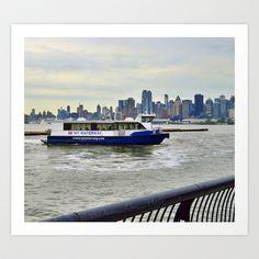 NY WATERWAY Art Print by Damn_Que_Mala - $18.00