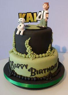 Ben 10 double decker cake