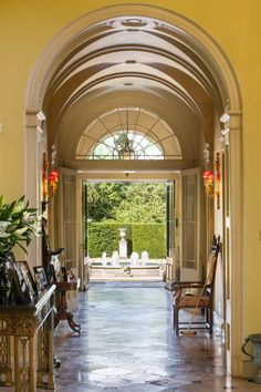 Arched hallway Woolmers Park Estate, Hertfordshire | Town & Country Magazine UK