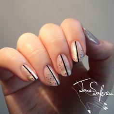 Jane Safarian nail art (@jsfrn_nailart) • glitter ombré nails #ombre
