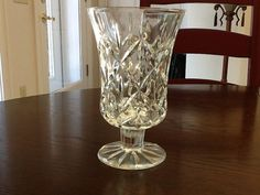 Vase Vintage Lead Chrystal By Blocks Cut Glass by FELVERSFEVER, $12.75