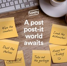 We have the solution to your growing list of to-do's! Head to handy.com & let us help tackle your to-do list!