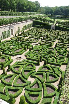 Villandry Gardens Loire Valley France