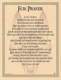 Fox Prayer Poster