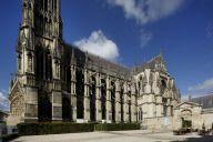 Cathédrale Notre-Dame de Reims vue du palais du Tau