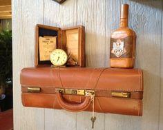 maleta estantería #DIY #decoracion #vintage #maletas antiguas #repurposed #upcycled