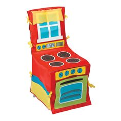 This chair cover makes playtime come to life! Simply slip this over a chair for an instant play stove! Kids will love to play chef when you add your own fake . Kitchen Chair Covers, Kitchen Chairs, Dining Chairs, Desk Chairs, Lounge Chairs, Projects For Kids, Diy For Kids, Diy Projects, Chaise Diy