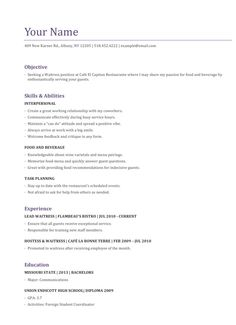 free resume example advice and preparation - Free Resume Example