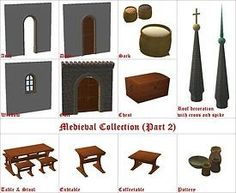 Mod The Sims - Medieval Collection (Part 2)
