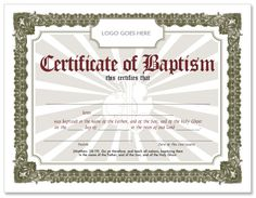 pin certificate of baptism sample on pinterest cakepinscom