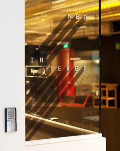 Norwegian wayfinding design: Mediateket is the media library at Westerdals School of Communication